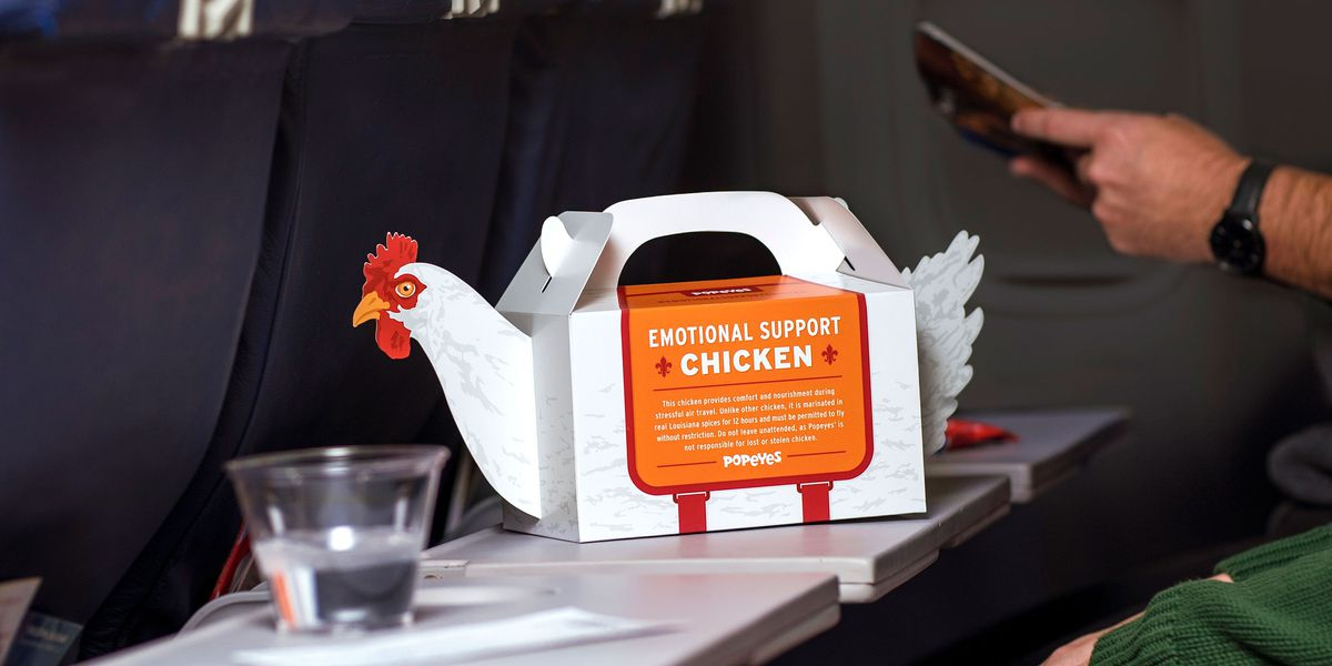 Popeyes creates Emotional Support Chicken to make holiday travel easier