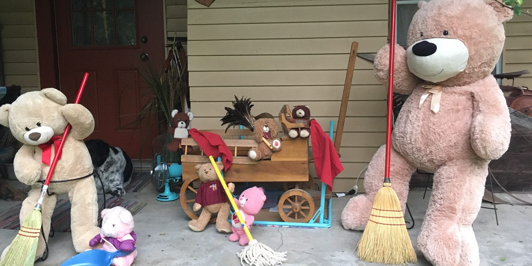 Louisiana woman thinks outside the stuffing to create daily scene for kids