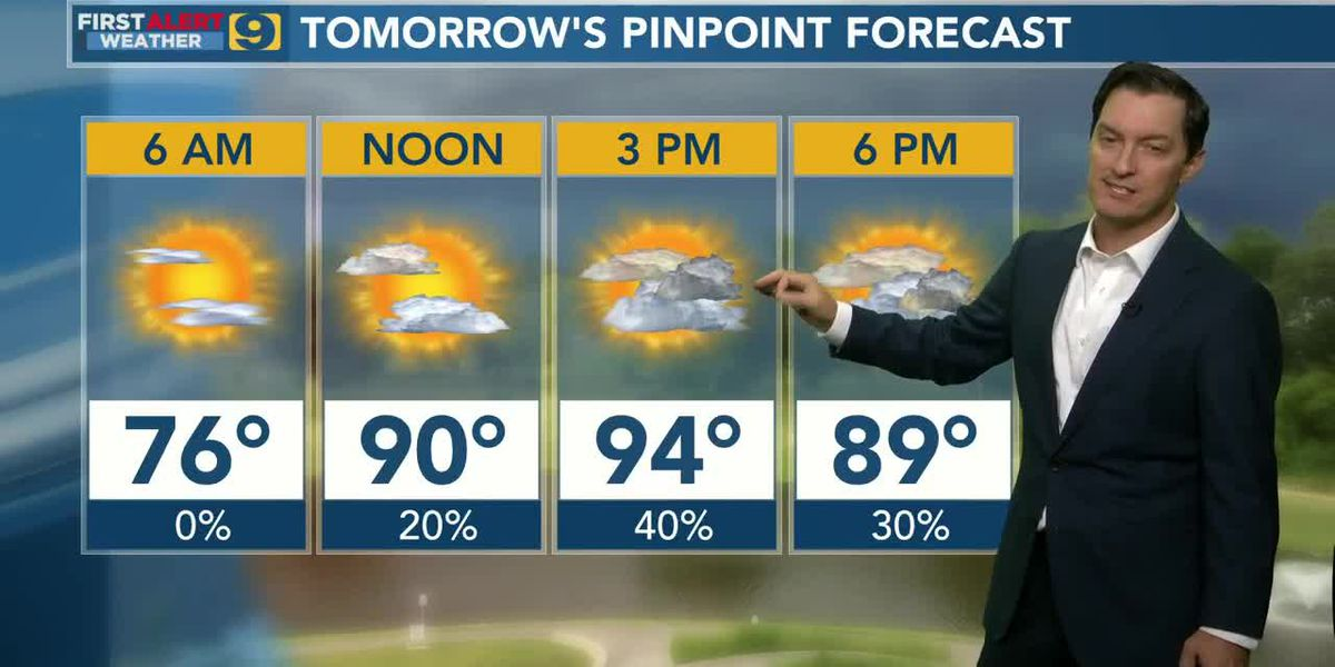 FIRST ALERT FORECAST: Tuesday, Aug. 11 - 4 p.m.