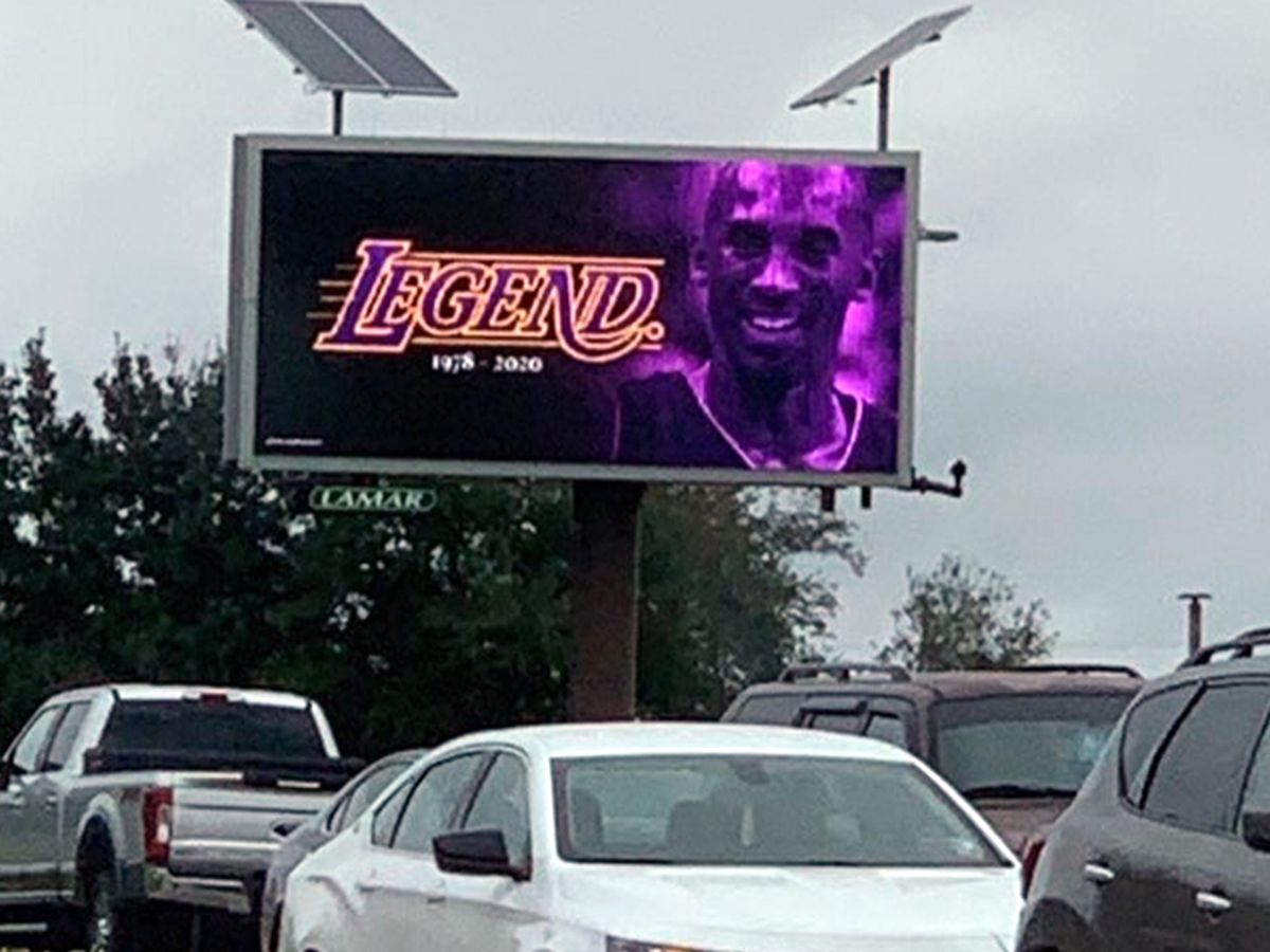 Billboards honoring late Kobe Bryant pop up in Baton Rouge