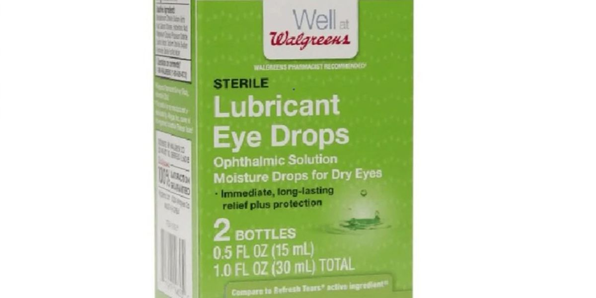 Eye drops and other ointments recalled over sterility concerns
