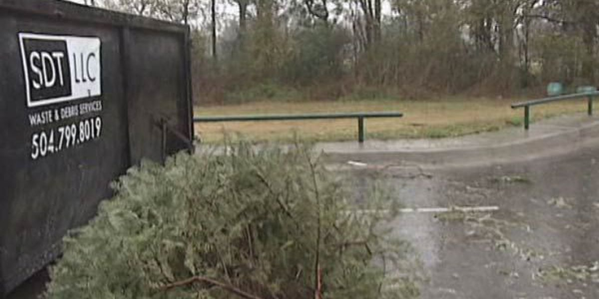 Christmas tree recycling/pickup in East Baton Rouge Parish