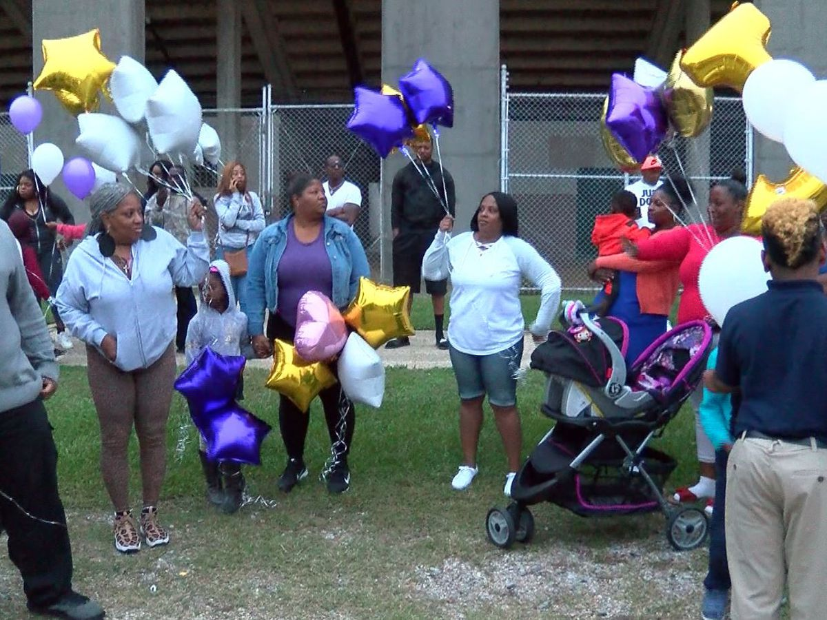 Balloon release held for woman reportedly killed by ex-boyfriend in Watson