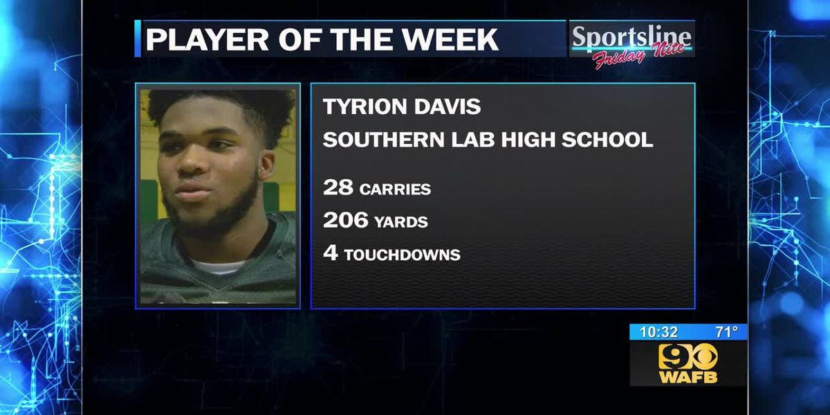 Southern Lab's Tyrion Davis - Sportsline Player of the Week