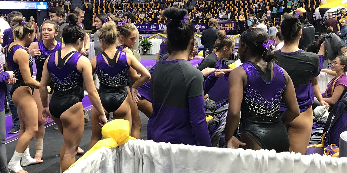 LSU gymnastics wins season-opener against Arizona