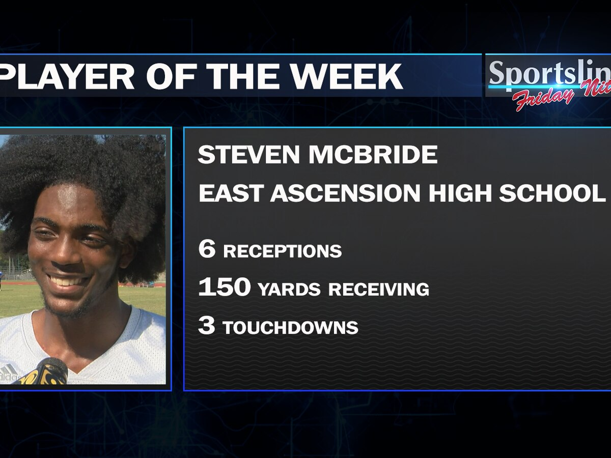 Sportsline Player of the Week: East Ascension WR Steven McBride (Week 1)