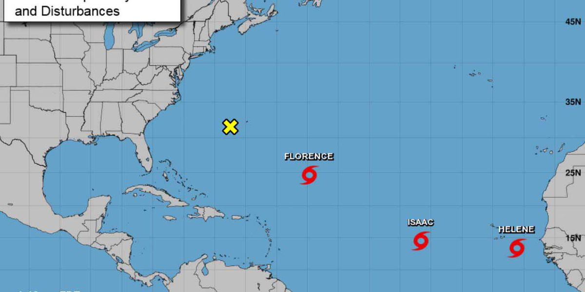 Florence intensifies; landfall across North Carolina becomes more likely