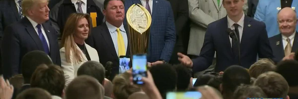 LSU Tigers visit White House after championship win