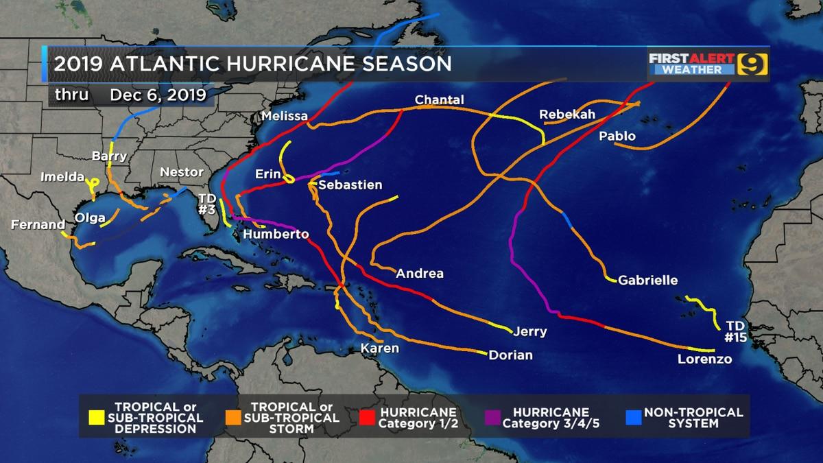 2019 ranks in top 10 for Atlantic hurricane activity