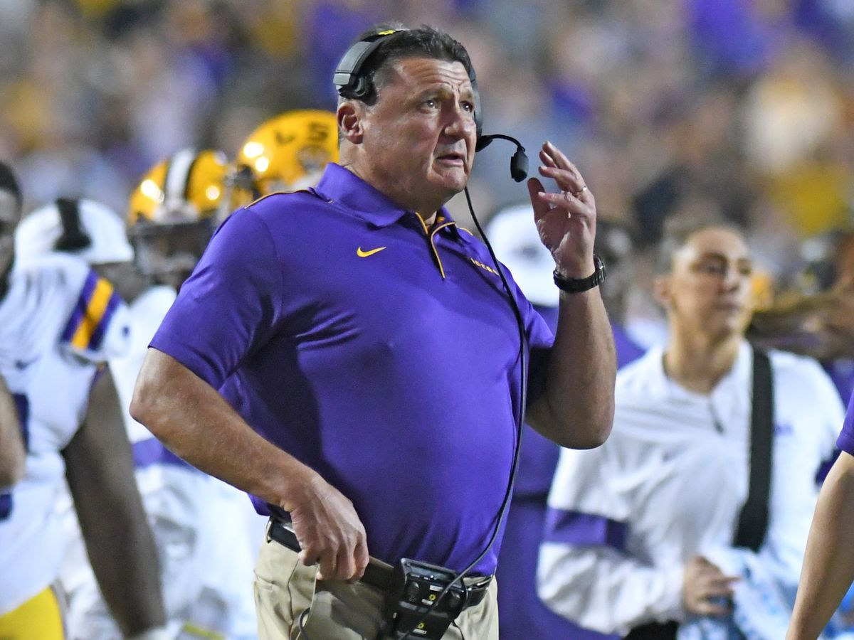 Orgeron named to Dodd Trophy midseason watch list