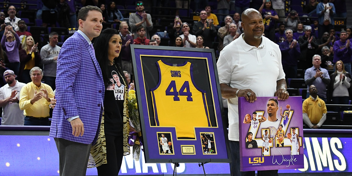 Wayde Sims remembered at LSU basketball Senior Tribute day