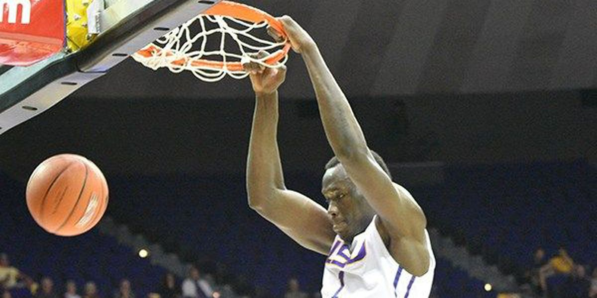 LSU hangs on for 88-80 win over Texas Southern