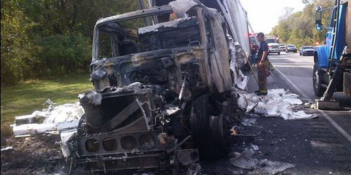 All lanes open at I-10 East at MM 143 after semi-truck fire, traffic still heavy