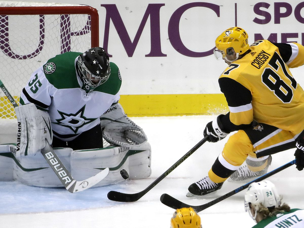 Crosby scores in return, Penguins pound Stars 5-1