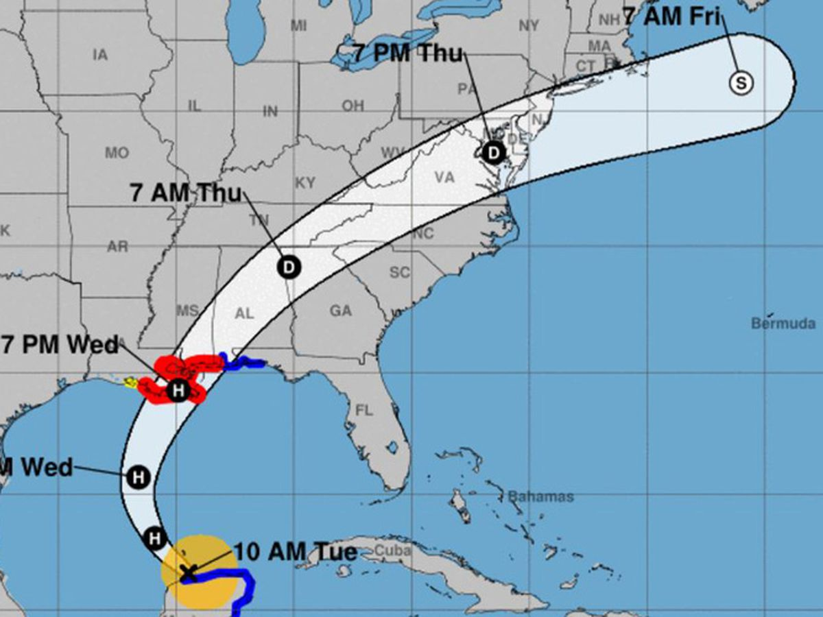 Hurricane warning for New Orleans as Zeta swirls over Mexico