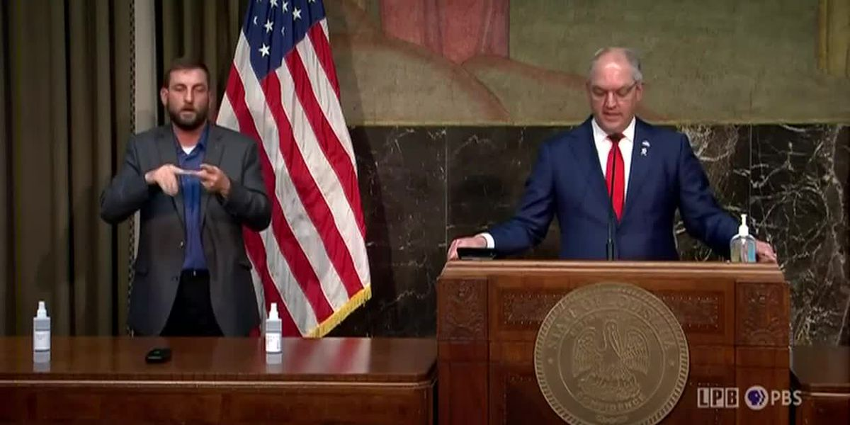 FULL PRESS CONFERENCE: Gov. Edwards: Update on hurricane recovery, COVID-19