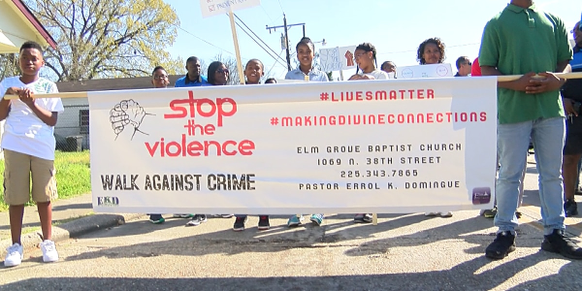 Baton Rouge residents gather for 'Stop the Violence' rally