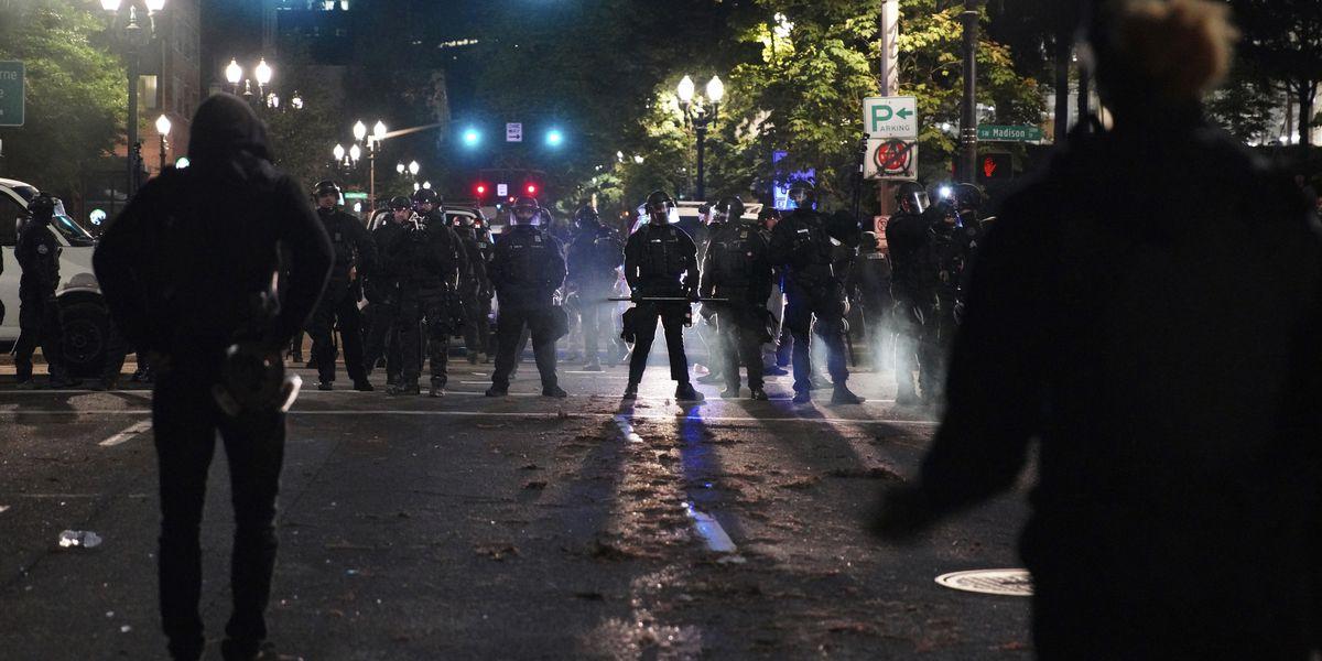 Late night protest in Portland, Oregon, declared unlawful