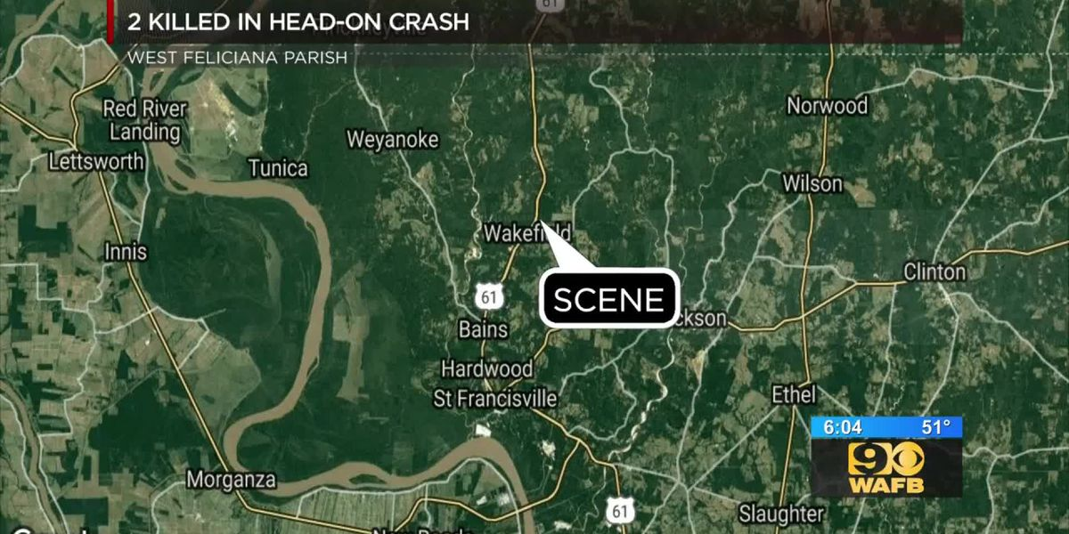 Head-on collision claims the lives of both drivers in West Feliciana Parish