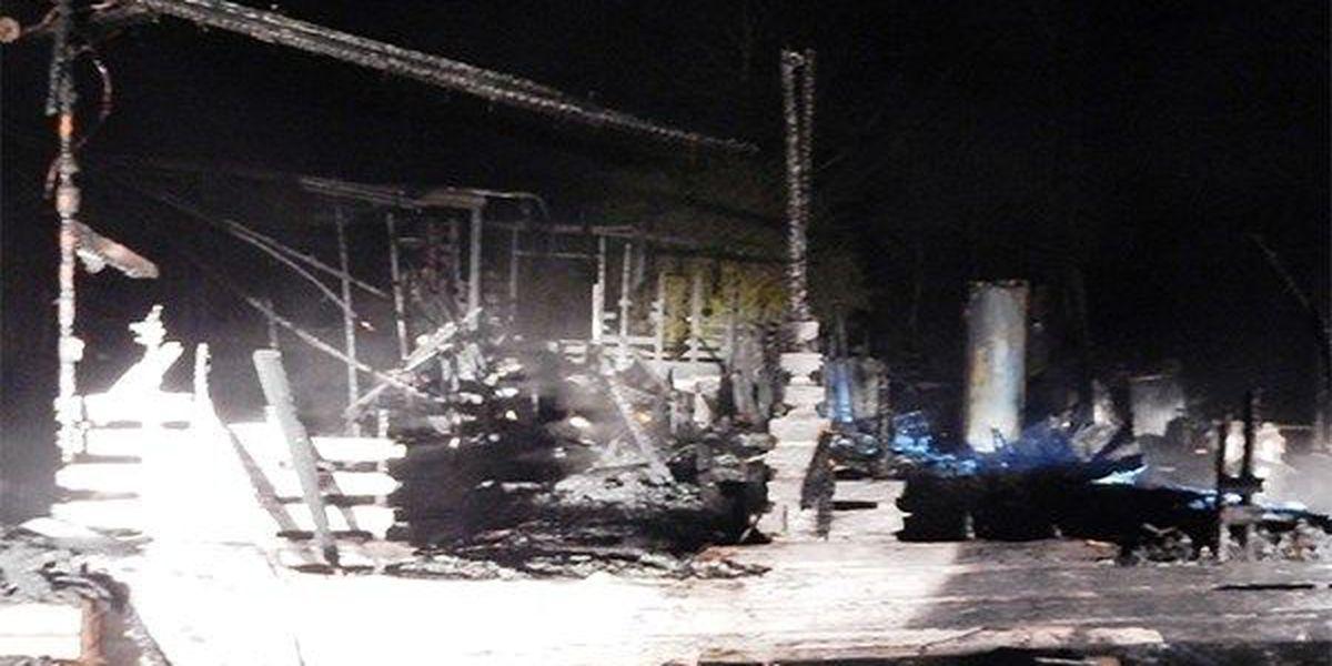 Fire destroys house, body found inside