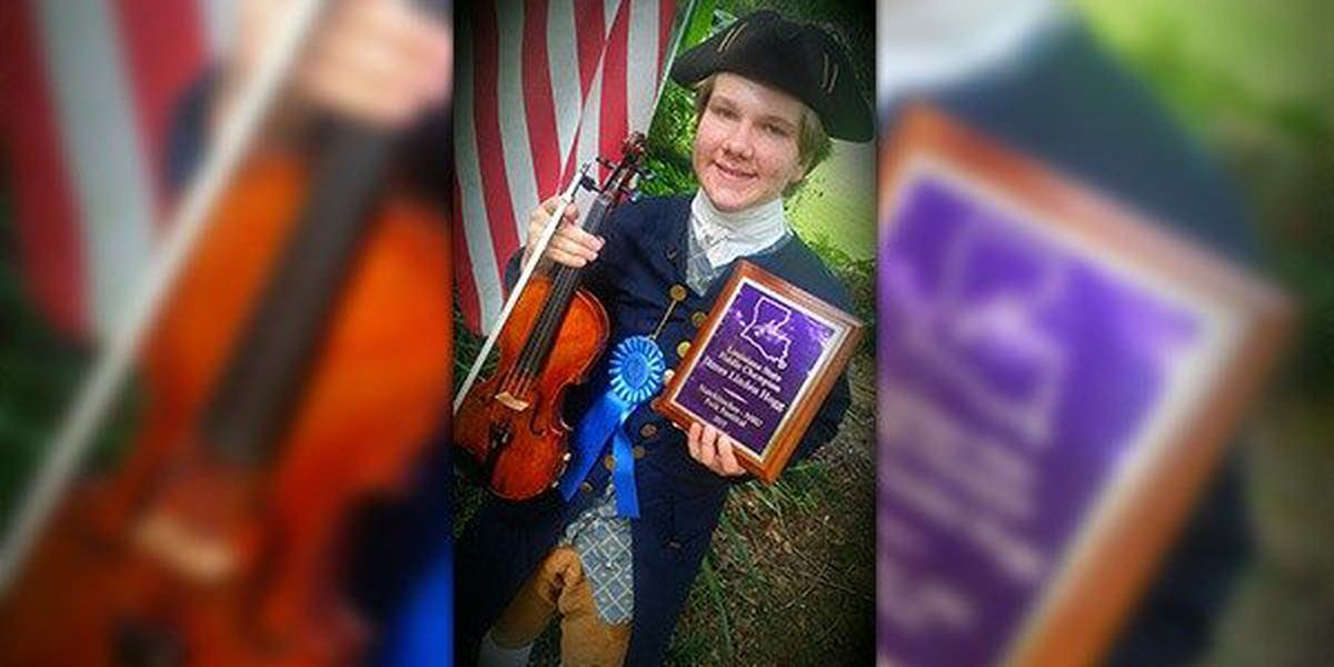 Baton Rouge teen wins Louisiana fiddler's contest