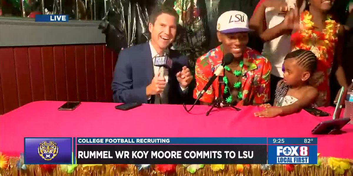 Rummel WR Koy Moore commits to LSU live on FOX 8