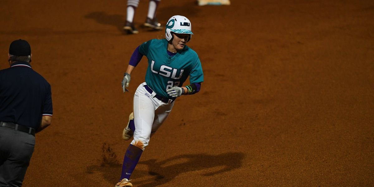 LSU softball shuts down late rally by Texas A&M to win