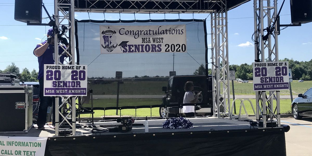 School principal delivers memories by taking portable stage to every graduating senior's home