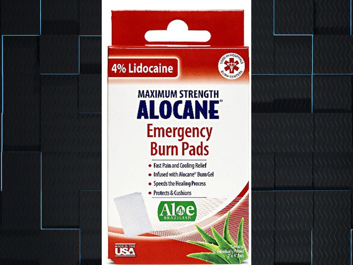 RECALL: ALOCANE® Emergency Burn Pads