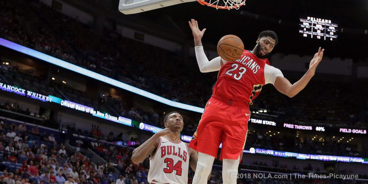 Anthony Davis' 32 points helps Pelicans end six-game losing streak
