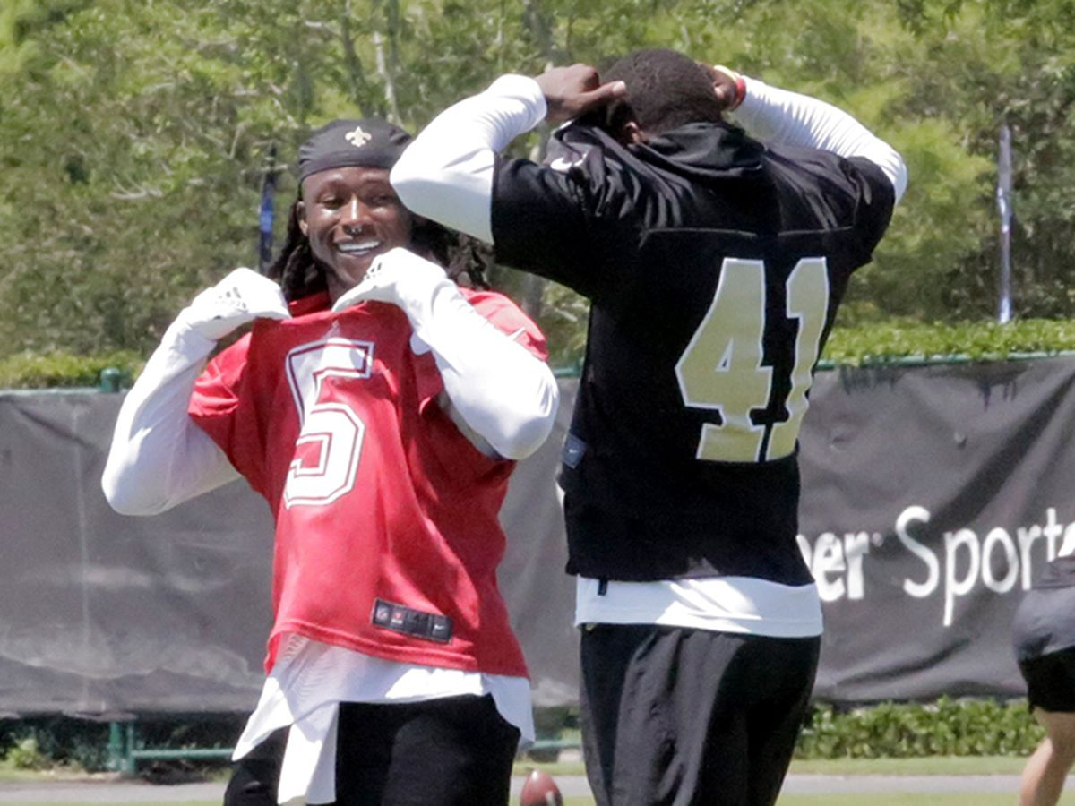 Saints wrap up mini camp with some kid-like fun