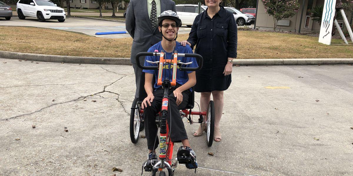 Denham Springs teen riding high with donated bike