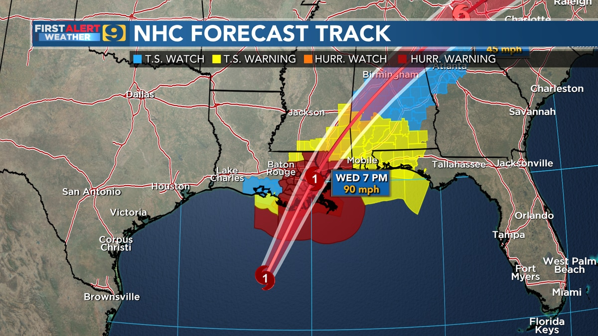 Zeta could be Category 2 hurricane at landfall late this afternoon