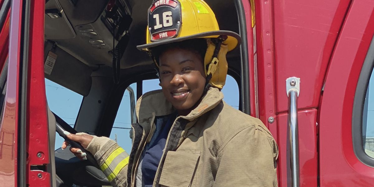 KSLA News 12 profile: Homer's first African-American female firefighter