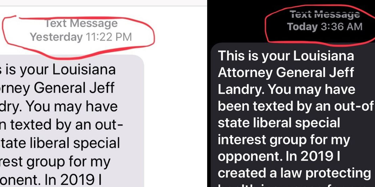 Wake up: It's Jeff Landry texting
