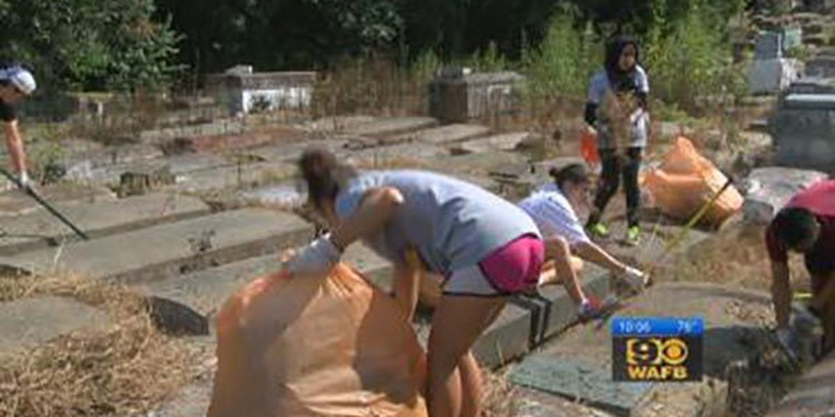 Volunteers come together to clean up Lutheran Cemetery