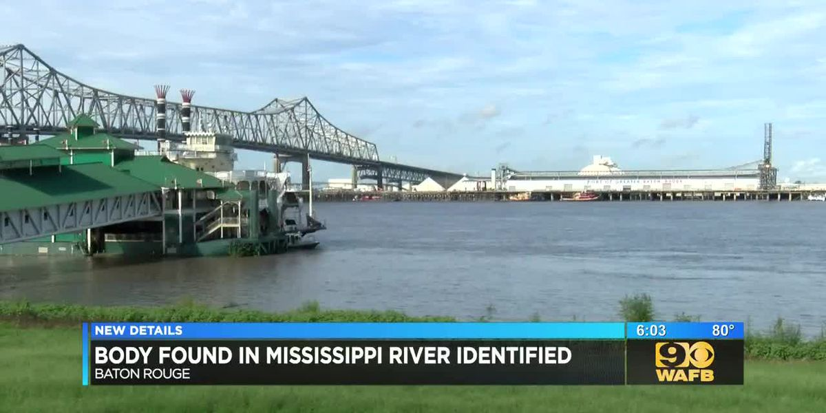 Body found in Mississippi River identified
