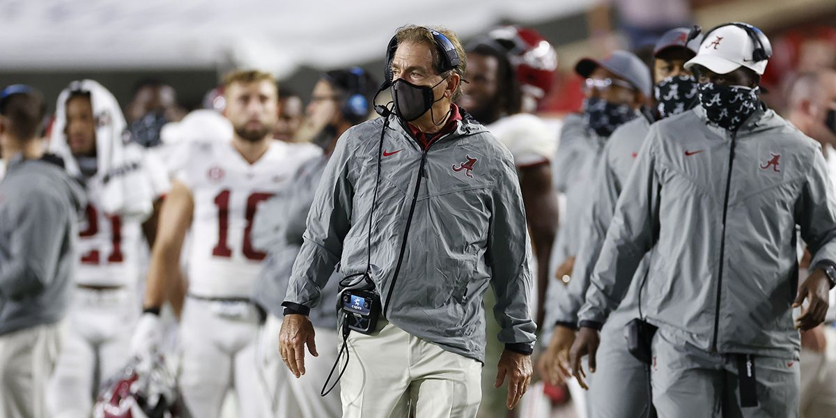 Nick Saban Tests Positive for COVID, Days Before Alabama vs. Georgia