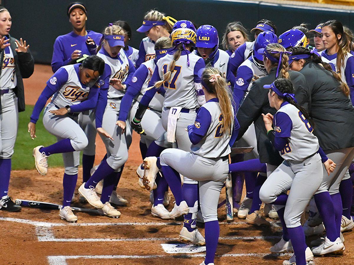 LSU softball faces South Alabama in Tiger Park