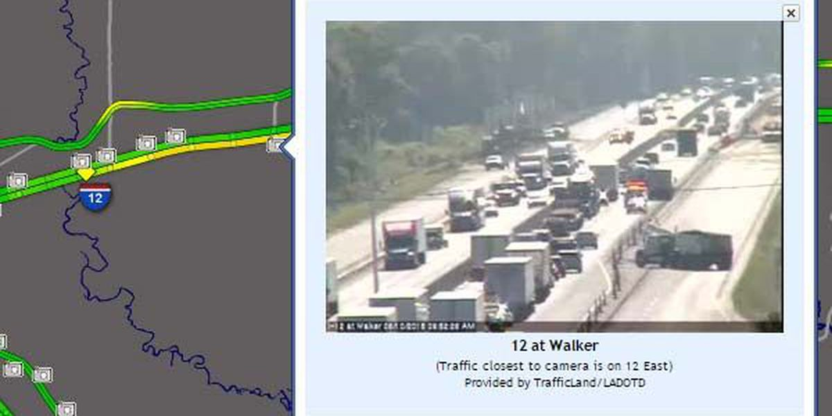 Expect delays on I-12 East near Walker