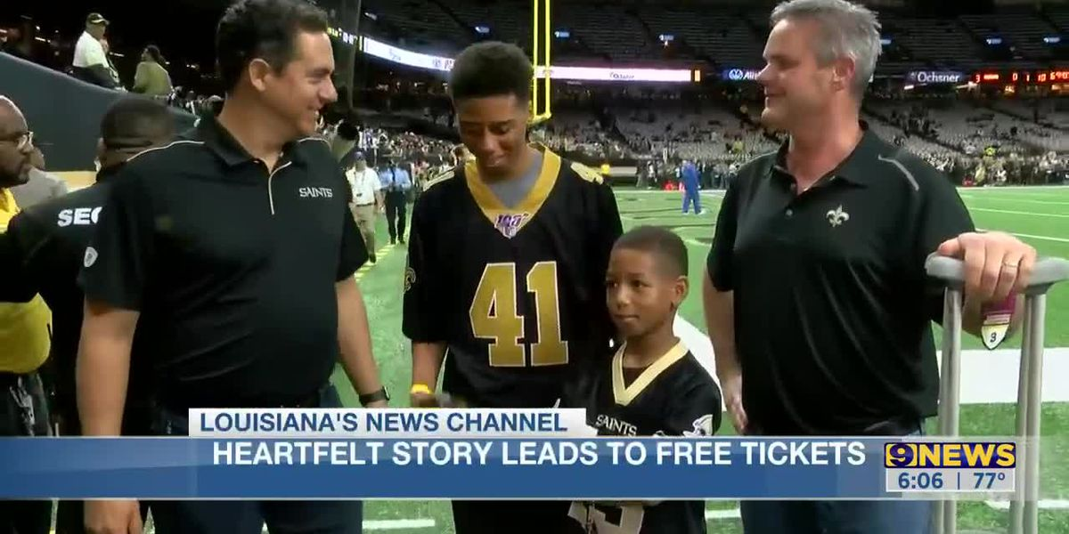Fans in viral video attend Saints vs. Colts game