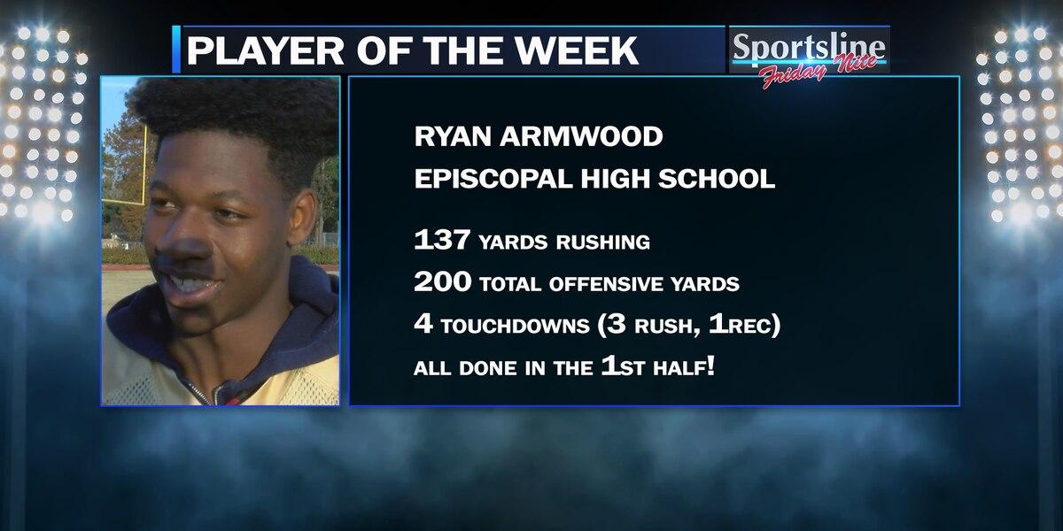Sportsline Player of the Week: Episcopal RB Ryan Armwood (Playoffs - 1st Round)