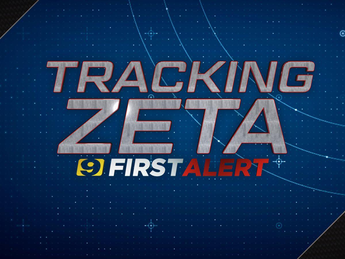 7 a.m. NHC Zeta update - Tuesday, Oct. 27