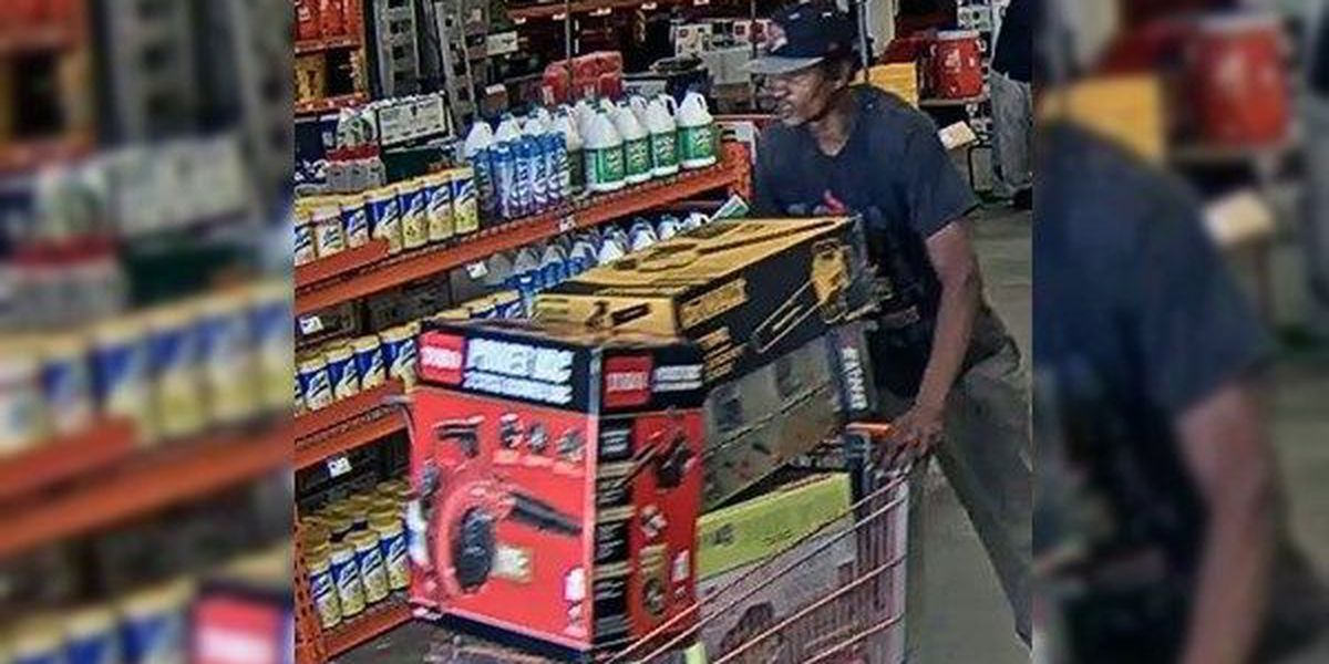 Man accused of stealing $15k worth of items from multiple Home Depot locations in EBR Parish