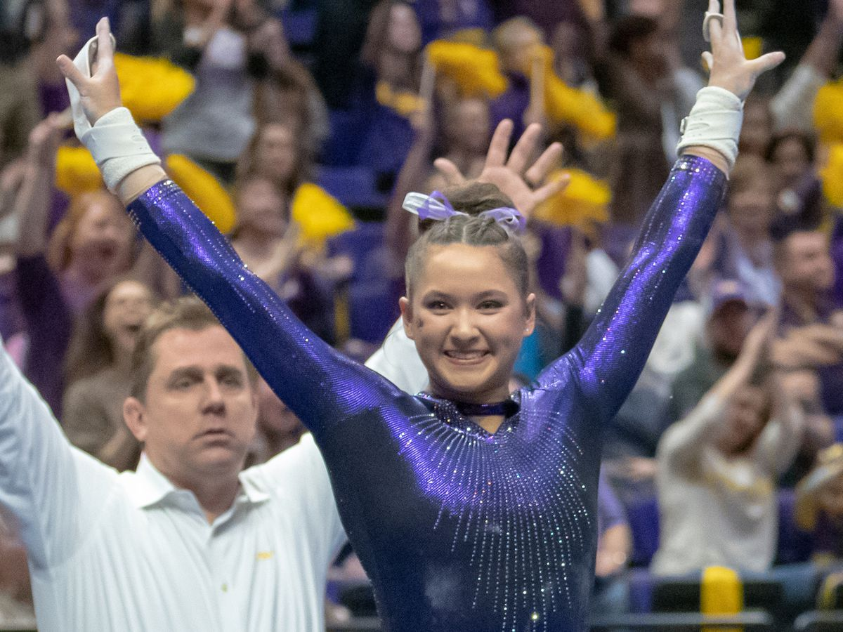 LSU gymnast Sarah Finnegan earns SEC Gymnast of the Week