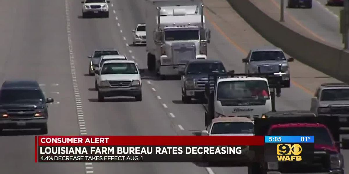 Farm Bureau car insurance rates to decrease in Louisiana