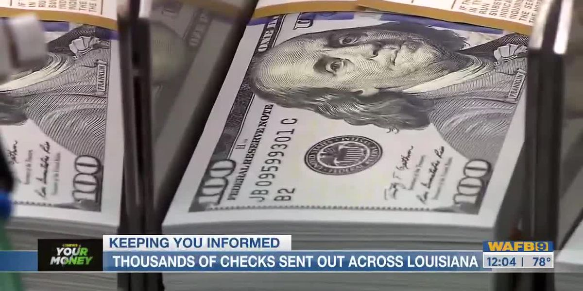Thousands of checks sent out across Louisiana