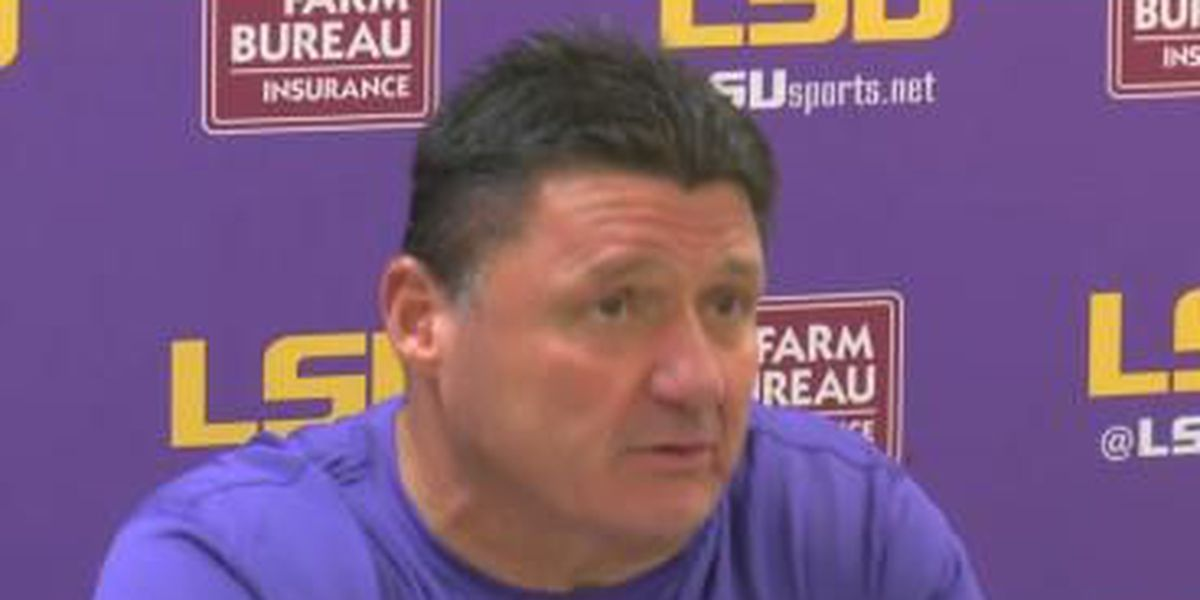 Video Coach Ed Orgeron Post Game Comments Lsu Vs Tennessee