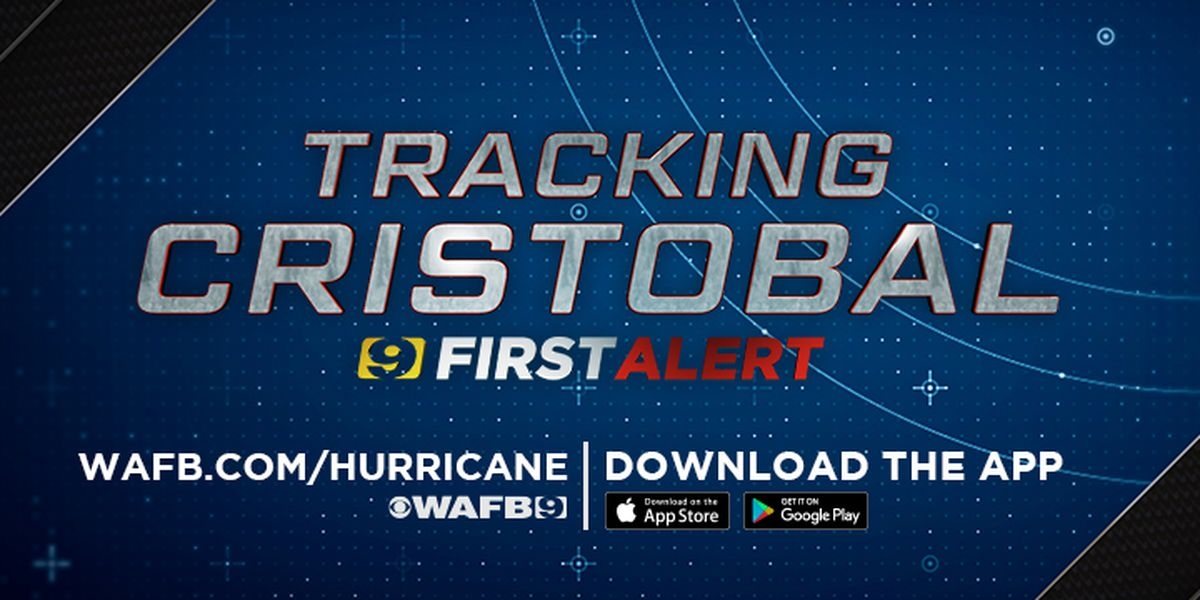Cristobal moving north through Mississippi Valley, expected to bring heavy rains over next couple of days