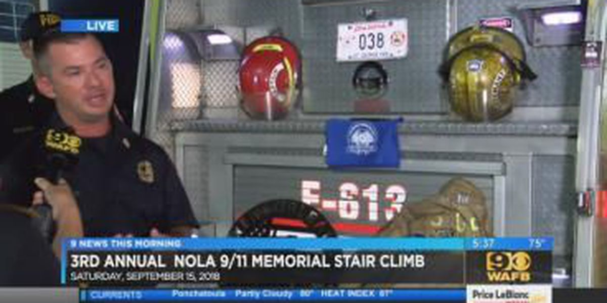 St. George firefighters participate in 3rd Annual New Orleans 9/11 Memorial Stair Climb - 5:30 a.m.